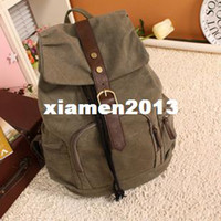 Wholesale New Outdoor Backpack Bag Water Wash Cotton Canvas Bag Chirdren Backpak Fashion School Backpack