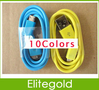 10Colors Micro usb device  1M Micro USB 2.0 Charging Data Cable for Samsung Galaxy S4 i9300 Note 2 S2 Blackberry Z10 HTC One x Hiawei Free Shipping