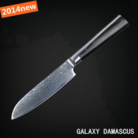 "damascus  stainless steel 5 Black and white 2014 NEW HOT !!! 5""Japanese VG10 Damascus steel kitchen knives santoku knife with double forged Micarta handle FREE SHIPPING"
