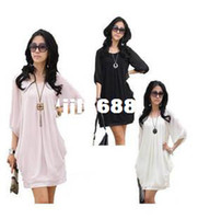 Wholesale New arrival xl plus size women casual dress slim half sleeve chiffon summer dress M XL XXXXL XXXXXL Dropship SY8010