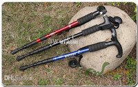 Trekking Poles Plastic / Foam Casual Hiking Snowsports Wholesale - Telescopic Stick Multifunctional Walking Stick Monopod Trekking Poles With Compass and LED light