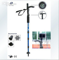 Trekking Poles Rubber Casual Hiking Snowsports Wholesale - Adjustable AntiShock Outdoor Hiking Cane Trekking Pole Telescopic Walking Stick Crutches With Compass