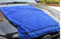 Wholesale K501 x160CM high quality more strong Blue Microfiber Towel Car Wash Cleaning Polish Cloth car wash towel