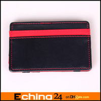Wholesale 2014 New Red Blue Orange Green Color Magic Trick Wallet Credit Business Card Tiket Cash Case Purse Holder Money Clip