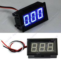 Wholesale New Blue LED Panel Meter Mini Digital Voltmeter DC V TK1213