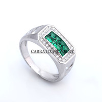 Wholesale Classical Creative Mens Silver Rings Precious Popular Fascinating Sterling Rings for Men Side Stones Design Hot Sale RSQD1040