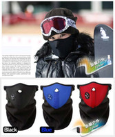 Wholesale Promotion New Neoprene Neck Warm Half Face Mask Winter Veil Windproof For Sport Bike Bicycle Motorcycle Ski Snowboard Outdoor Mask