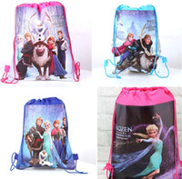 Wholesale 1404L hot drawstring bags kids backpacks handbags children school bags kids shopping bags present frozen backpack