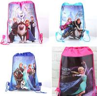 Wholesale 1404L hot drawstring bags kids backpacks handbags children school bags kids shopping bags present frozen backpack