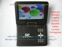 Wholesale 100 Cheapest inch Handheld DVD Players with USB CD Games FM Radio Analog TV Russian Spanish French German Freeshipping