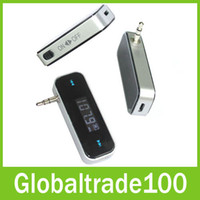 Wholesale Wireless mm Car FM Transmitter Handsfree Car Kit Music Radio For iPod iPad iPhone S S Galaxy S3 S4 S5 HTC FM181 Free DHL Shippiing