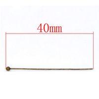 Wholesale Bronze Tone Ball Head Pins x40mm Findings W01846X1