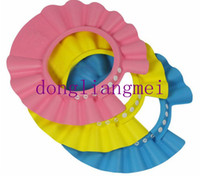 Shower Caps New Year  100pc New arrival High Quality Baby Child Kid Shampoo Bath Shower Wash Hair Shield Hat Cap Yellow Pink Blue #J19