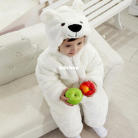 Boy Summer Baby New arrival winter warm baby rompers polar bear New Year costumes lovely animal shaped clothing kids holiday Festival clothes