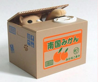 Wholesale by CPAM new arrival Automated cat steal coin piggy bank saving money box coin bank kids gift a291