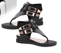 Women shoe clips - New summer metal belt clip toe flat with stylish casual shoes with flat sandals women
