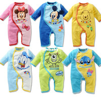 Wholesale 2014NEW Baby romper girl s boy s spring autumn full sleeves baby sleepsuits bebe O Neck romper children wear