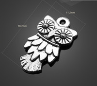 Wholesale 13028 vintga unique design owl Charms Necklace Pendants earrings Pendants DIY Charms Jewelry Findings amp Components for