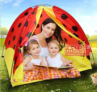 2 to 4 Years Unisex cloth Learning Education children cloth color lady beetle tent house+20pcs 5.5cm ocean ball tent indoor and outdoor games play house