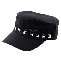 Wholesale 10pcs New Fashion Unisex Women Men Punk Rivet Studded Spikes Baseball Cap Hat Beanie fx236
