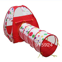 2 to 4 Years Unisex cloth Baby's Tent .The outdoor playhouse dollhouse portable Magic children's tent to send nailed four Play house Tents .Free Shipping