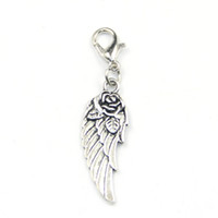 Wholesale wing dangle charms floating locket dangles dangle charms floating lockets