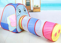 5 to 7 Years Unisex cloth Elephant Kids Games Game Play Tent Children House for Kids Child Children's Play Tents Tunnel Tent Playhouse Free Shipping