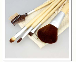 Wholesale Factory price set Eco Makeup Brush Facial Brush Tools Travel Storage Cosmetic Bag Bamboo Brush Tool Sets