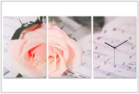 Wholesale Three frameless pictures with clock