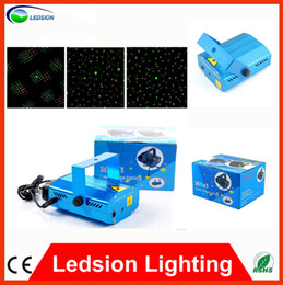Wholesale Blue Mini RG Projector Holographic Laser Star Stage DJ Disco Party Lighting can Adjusting the frequency of stroboflash