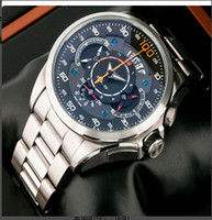 Luxury designer watches men - fashion new style designer hand wind men dress watch calibre rs quartz movement stopwatch