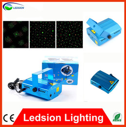 Wholesale High Quality New Blue Mini LED Laser Projector with Retail Box DJ Disco Bar Stage House Lighting with User guide Manual