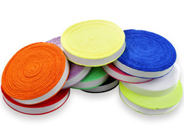 FANGCAN 100% Superfine Fiber Badminton Towel Grips, Tennis Grips, Soft Absorb Sweatband 10 m roll, Multi Colors