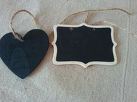 Wholesale 2014 New Arrival MIXED Mini Shield Heart Chalkboard Blackboard With String Label Tags Place Card For Wedding Christmas