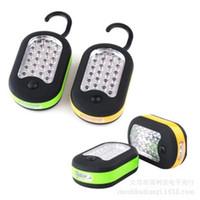 Wholesale 27 LED Super Bright Waterproof Portable Lanterns Home Work Light Bivouac Fishing Camping Hiking Tent Lamp Lantern Flashlight Hanging Hook