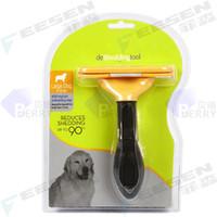 Wholesale 4 Inches Large Dog Hair Fasaito Deshedding Tool For Dog Long Hair And Short Hair