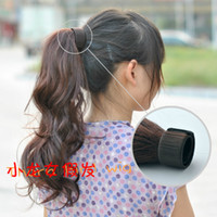 Wholesale Fashion ladies curl synthetic clip in ponytails hair extensions hairpieces easy to wear colors drop shipping