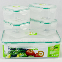 Wholesale plastic microwavable airtight sealed box organizer case kitchen storage food container set novelty households