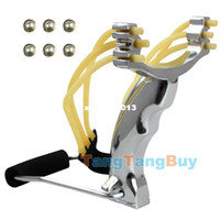 Wholesale Powerful Thunderstorm Stainless Steel Slingshot Catapult Hunter Wrist Support Sling Shot Outdoor Hunting