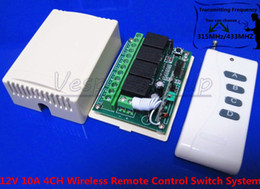Long Distance 1000M Receiver DC 12V 10A 4CH Wireless Remote Control Switch System Smart Home Controller RF Toggle Switch Output Way Adjustab