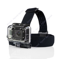 Wholesale Adjustable Camera Head Strap Mount For GoPro Hero3 Go Pro amp Hero HD Hero2 Headstrap Black TK1434
