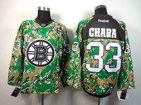 Ice Hockey Men Full Newest Hockey Jerseys Bruins #33 Zdeno Chara Stitched Camo Jerseys 2014 Stanley Cup Playoffs Team Jerseys High Quality Sports Jerseys Cheap