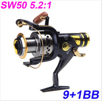 Wholesale Fishing Reels Saltwater BB Ball Bearings Left Right Interchangeable Collapsible Handle Fishing Spinning Reel Reels SW50 H10375