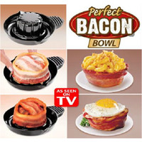 bacon - High Quality Perfect Bacon Bowl Cute Salad Bowl Kitchen Gadgets Dessert Bakeware Household Supplies SH812