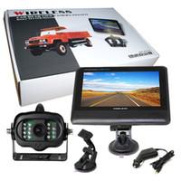 "Car Monitors & Cameras   Free Shipping 2.4G Wireless License Back Up Reverse Car Rear View Camera 7"" LCD Monitor Kit"