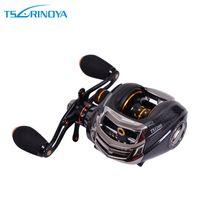 casting - Trulinoya TS1200 BB Left Right Hand Bait Casting Fishing Reel Reels Ball Bearings One way Clutch Black H10308