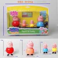 Wholesale 2014 New Peppapig Toys Peppa George Mummy amp Daddy Family Figures Plastic PVC Action Dolls set