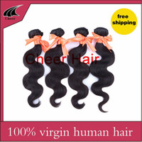 Wholesale Cheap 1pcs Hair Extension - Cheap 5A Brazilian Virgin Hair Body Wave,100% virgin human hair weave extensions 1pcs lot Queens Hair Products Natural Color free shipping