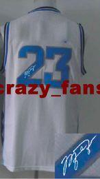 Wholesale 2014 new fashion North Carolina Jordan White autographed Basketball Jerseys Guard Players Basketball Wears Size S XXXL Athletic uniforms