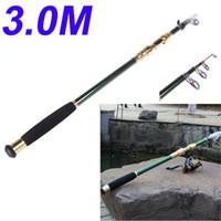 Wholesale Telescopic Fishing Rod Camping M FT Portable Telescope Carbon Fiber Fishing Rod Travel Spinning Fishing Pole H10182